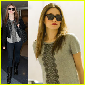 Emmy Rossum: Landing at LAX