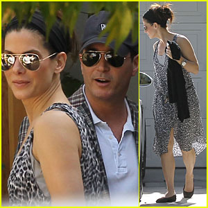 Sandra Bullock: Private Party with a Mystery Guy!