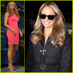 Stacy Keibler Promotes Her Fitness Video Game!