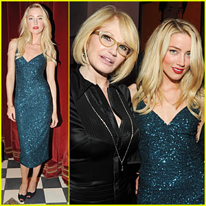Amber Heard: L'Wren Scott Dinner with Ellen Barkin!