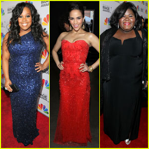 Amber Riley & Gabourey Sidibe: NAACP Image Awards 2012