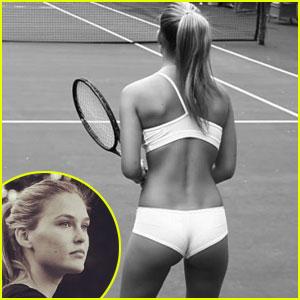 Bar Refaeli Plays Tennis In Her under.me Underwear