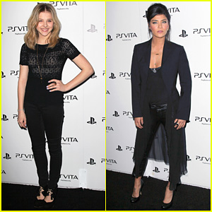 Chloe Moretz & Jessica Szohr: PS Vita Launch Party!