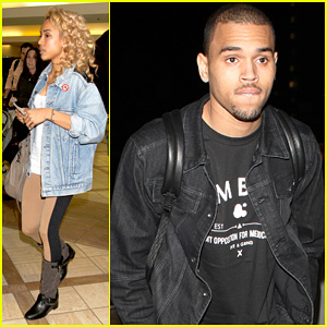 Chris Brown: LAX with Karrueche Tran!