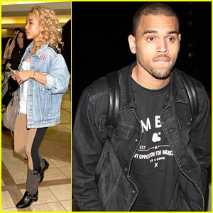 Chris Brown: LAX with Karrueche Tran!