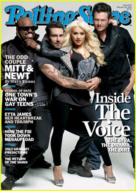 Christina Aguilera: 'Rolling Stone' Cover with 'Voice' Coaches!