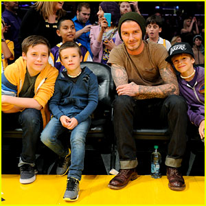David Beckham: Lakers Game with the Boys!