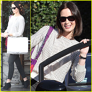 Emily Blunt: Birthday Lunch at Cecconi's