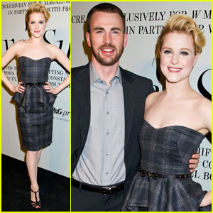 Evan Rachel Wood & Chris Evans Support Solve Sundsbo