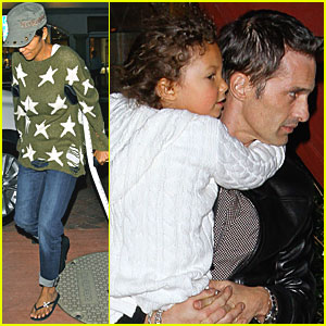 Halle Berry: Nobu with Nahla & Olivier!