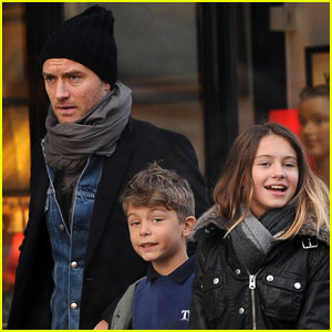 Jude Law: Dinner With the Kids!