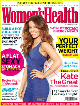 Kate Beckinsale Covers 'Women's Health UK' Inaugural Issue
