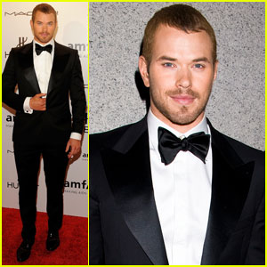 Kellan Lutz: amfAR New York Gala 2012