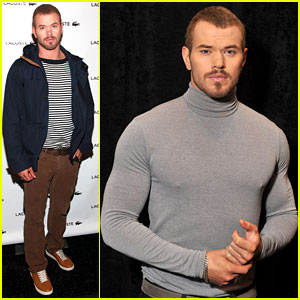 Kellan Lutz: Tight Turtleneck at Fashion Week!