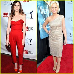Kristen Wiig & Amy Poehler: Writer's Guild Gals!