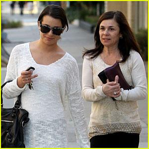 Lea Michele: Saturday Salon Stop with Mom Edith!