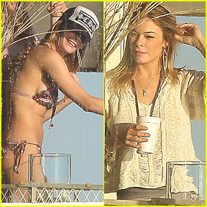 LeAnn Rimes: Malibu After Mouth Surgery
