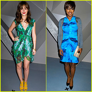 Leighton Meester: Vera Wang Fashion Show with Viola Davis!