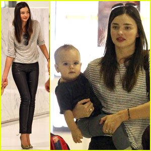 Miranda Kerr Flies With Flynn in Sydney