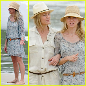 Naomi Watts: Filming on the Beach!