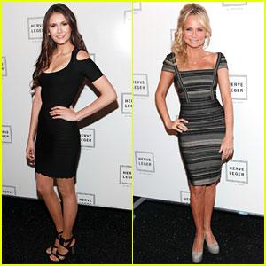 Nina Dobrev & Kristin Chenoweth: Herve Leger Show!