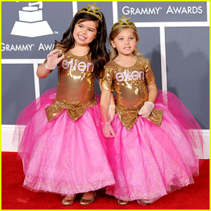 Sophia Grace & Rosie - Grammys 2012 Red Carpet