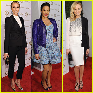 Stacy Keibler: 'Vanities' Party with Malin Akerman!