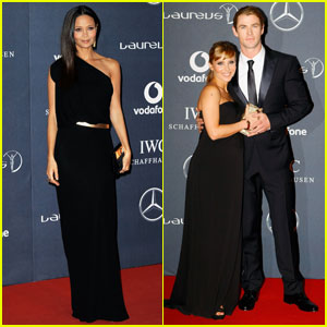 Thandie Newton & Chris Hemsworth: Laureus Awards!