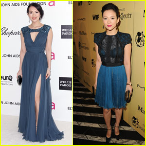 Ziyi Zhang - Elton John Oscar Party