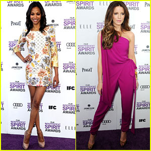 Zoe Saldana & Kate Beckinsale - Spirit Awards 2012