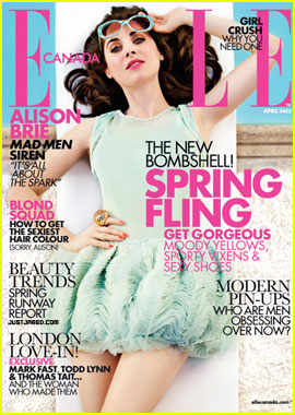 Alison Brie Covers 'Elle Canada' April 2012