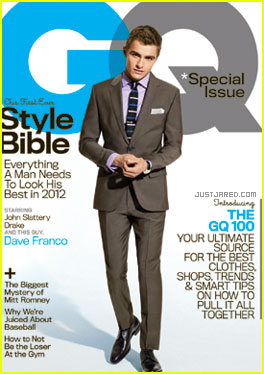 Dave Franco Covers 'GQ' April 2012 with Drake &#038; John Slattery