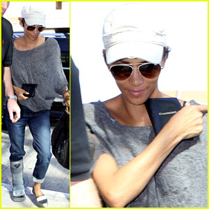 Halle Berry: Airport Arrival