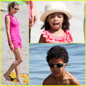 Heidi Klum: Paradise Cove with the Family!