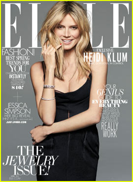 Heidi Klum Covers 'Elle' April 2012 - Exclusive