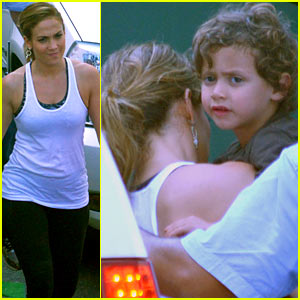 Jennifer Lopez: 'Follow The Leader' Set with Max & Emme!