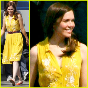 Mandy Moore: On Set for New Project