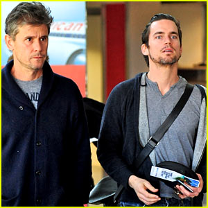 Matt Bomer: LAX Check In With Partner Simon Halls!