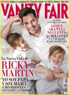 Ricky Martin & Twins Cover Spanish 'Vanity Fair' April 2012