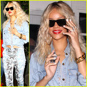 Rihanna: Giorgio Baldi Night Out!
