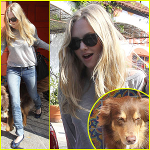 Amanda Seyfried & Flynn: Lunch at Cheebo