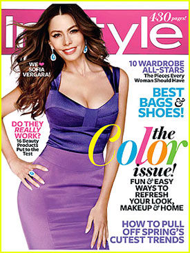 Sofia Vergara Covers 'InStyle' April 2012