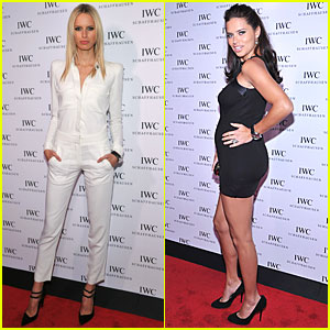 Adriana Lima: Baby Bump at IWC Grand Opening