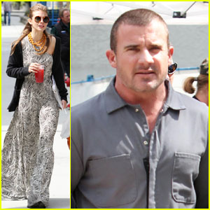 AnnaLynne McCord & Dominic Purcell: Set Break