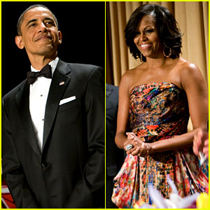 Barack & Michelle Obama - White House Correspondents' Dinner 2012