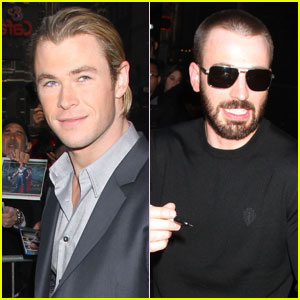 Chris Hemsworth & Chris Evans: 'GMA' Guys