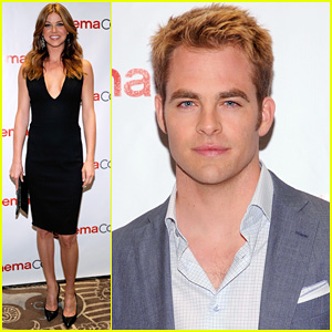 Chris Pine arrives at the opening night of the 2012 CinemaCon held at