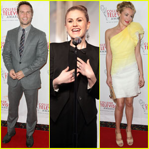 Anna Paquin & Scott Porter: College TV Awards Presenters