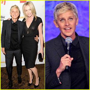 Ellen DeGeneres: GLAAD Media Awards with Portia de Rossi!