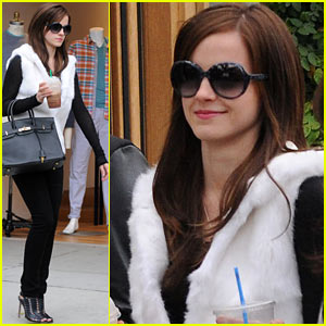 Emma Watson: 'Bling Ring' Fur Vest!